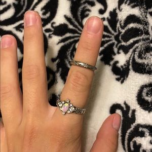 Jewelry - half ring and a normal ring